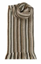 модный вязаный шотландский  шарф Zig Zag Coffee Shop Зигзаг Кофейный, плотность 7