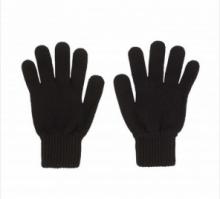 кашемировые перчатки женские (100% драгоценный кашемир) , классический чёрный цвет