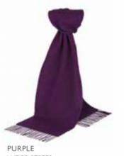 шарф 100% шерсть ягнёнка , классический  цвет Фиолетовый Purple  ,плотность 6