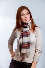шарф 100% шерсть ягнёнка , расцветка королевский клан Стюарт Парадный Dress  Stewart Tartan  плотность 6