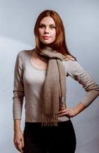 шарф 100% шерсть ягнёнка , Классический пшеничный цвет,  ,плотность 6