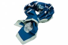 Тонкий шелковый шарф- шейный платок, Официальный шарф легендарного КЕМБРИДЖСКОГО УНИВЕРСИТЕТА  -OFFICIAL UNIVERSITY OF CAMBRIDGE  SILK SCARF, плотность 3