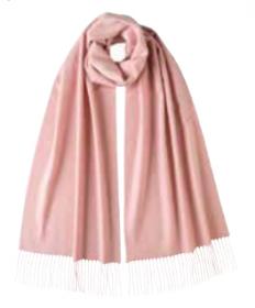 Роскошная классическая шотландская  шаль, высокая плотность, 100 % драгоценный кашемир , светло-розовая расцветка Light Pink (премиум)